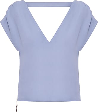 Mixed TOP CROPPED V CREPE - AZUL