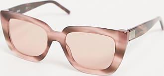 BOSS Hugo Boss oversized cat eye sunglasses in pink tortoiseshell