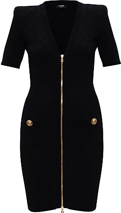 Balmain Zip Dress Womens Multicolor