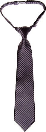 Retreez Woven Pre-tied Boys Tie with Stripe Textured - Charcoal Black - 4-7 years