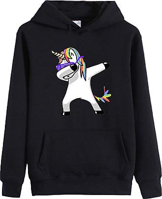 EUDOLAH Womens Hoodie Funny Cartoon Unicorn Print Sweatshirt Top (0 Unicorn XS)