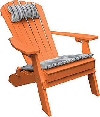 A & L Furniture A & L Furniture 881-O Orange Polywood Folding/Reclining Adirondack Chair, One Size