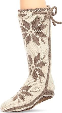 Woolrich Womens Chalet Sock Slipper, Birch, Small/(6-8) M US