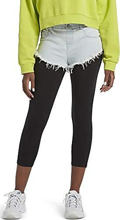 Medium BLACK ACID WASH Kylie Womens Cut-Off Denim Shorts Kendall