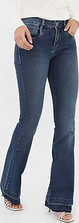 Morena Rosa Calça Jeans Morena Rosa Flare Carol Azul-Marinho