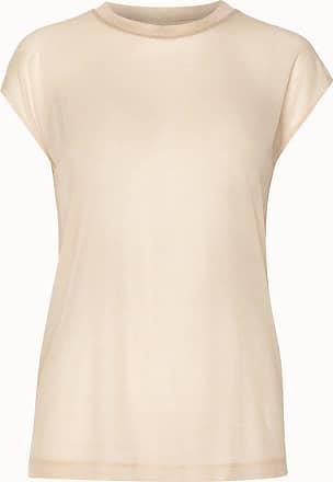 Akris Transparent Silk T-shirt with Cap Sleeves
