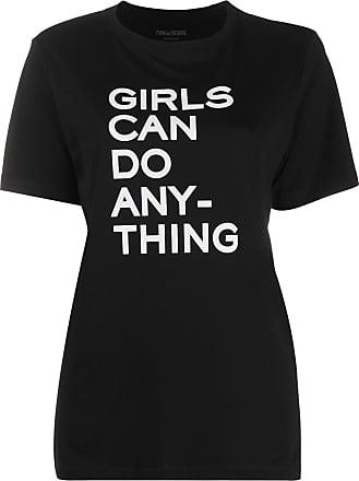 Zadig & Voltaire slogan print round neck T-shirt - Black