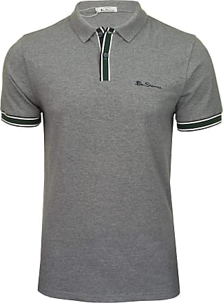 Ben Sherman Mens Metal Polo Shirt in LGE to XXXL Steel