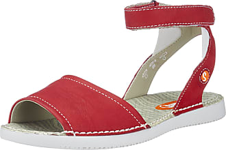 0777ba8c3ca2 Softinos Womens Tia385Sof Ankle Strap Sandals Red