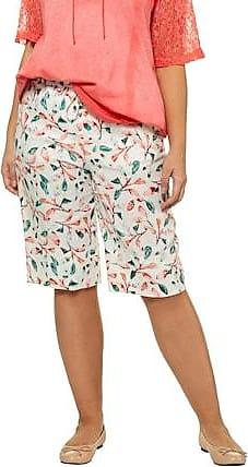 cd103ccb07ffce Ulla Popken Bermuda Damen 42/44, weiß, Leinen, Mode in großen Größen