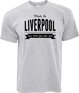 Tim And Ted Hometown Pride T Shirt Made in Liverpool Banner - (Grey/Large)