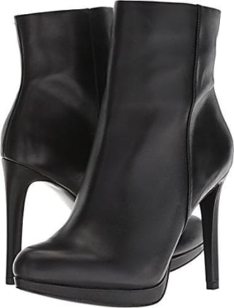 Nine West Womens QUANETTE Leather Ankle Boot, Black, 10.5 M US