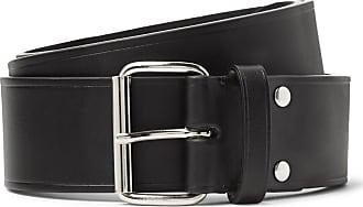 A.P.C. 4cm Black Leather Belt - Black