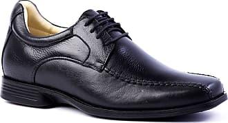 Doctor Shoes Antistaffa Sapato Masculino (Linha Up 5cm + alto) 5494 em Couro Floater Preto Doctor Shoes-Preto-40