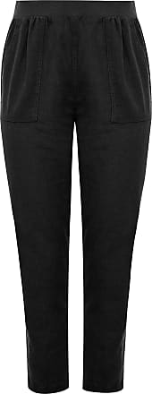 Yours Clothing Clothing Womens Plus Size Tapered Trousers Size 18 Black