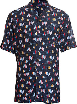 Espionage Mens Big Size Cotton Revere Collar Summer/Hawaiian Shirt (SH297) in Navy Surfboard Print in2XL