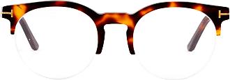 Tom Ford Eyewear Armação de Óculos 5539 Estampado Marrom - Mulher - 52 US