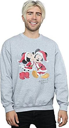 Disney Herren Mickey Mouse Scarf Christmas Sweatshirt