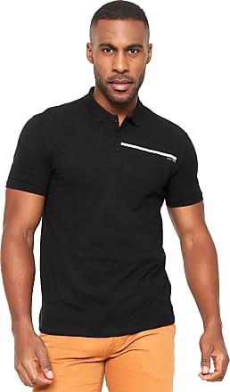 Calvin Klein Jeans Camisa Polo Calvin Klein Jeans Estampada Preta 015e37df5270b