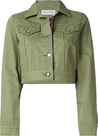 être cécile cropped denim jacket - Green
