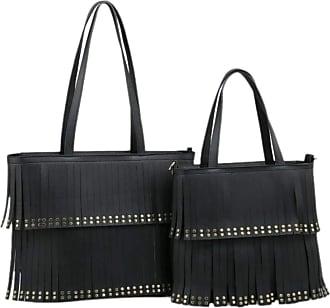 Girly HandBags Girly HandBags Womens 2 in 1 Tassel Handbag - Black