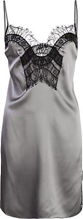Kiki De Montparnasse lace-detail mini dress - SILVER