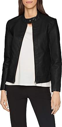 Jacqueline de Yong Womens Jdydallas Faux Leather Jacket OTW Noos, Black (Black Black), 14 (Manufacturer Size: 42)