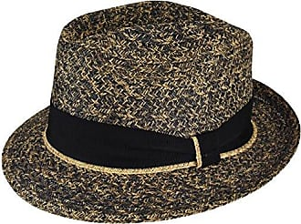 Bailey Mens Romeo Braided Straw Fedora Trilby Hat, Black Coffee, M
