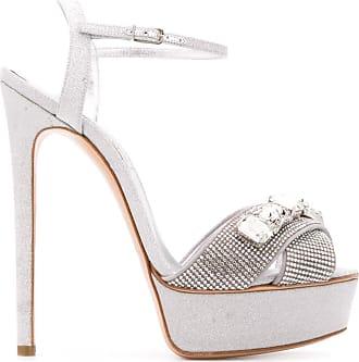 Casadei crystal-embellished heeled sandals - SILVER