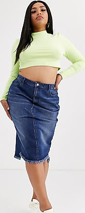 Missguided Jeans-Midirock-Blau