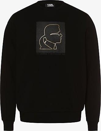 INSTO Sweatshirt Karl Lagerfeld Gedruckt Sweatshirt Beil/äufig Lose Kapuzenpullover Unisex Tragen Gem/ütlich//Schwarz//L