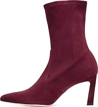 Stuart Weitzman Womens Rapture 55 Leather Pointed Toe, Cabernet Suede, Size 5.0 US / 3 UK US
