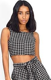 Brave Soul checked crop top