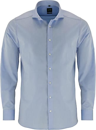 Olymp Olymp mens shirt, Level 5 Body Fit, long sleeve - Blue - 15.5