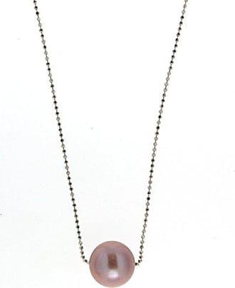 f0959a4b5fe9 Adriana Adriana la Mia Perla - Collar para mujer Premium Natural 925 plata  rodiada perlas de