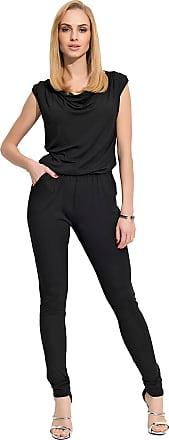 FUTURO FASHION Womens Jumpsuit with Pockets Boat Neck Playsuit FM112 Black