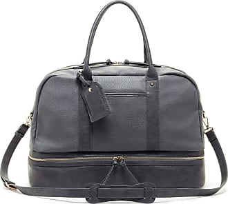 Sole Society Womens Mason Weekender Vegan Leather In Color: Grey Bag From Sole Society