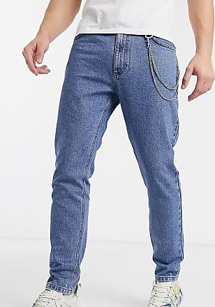 Collusion x003 tapered jean with removable chain-Blue