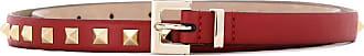 Valentino Garavani Cinto de couro com aplicação - Vermelho