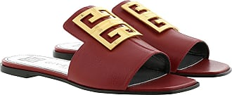 Givenchy Sandals - 4G Sandals Grained Leather Red - red - Sandals for ladies