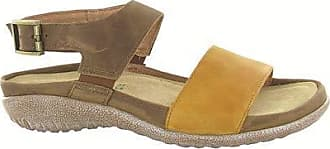 Naot Womens Haki Sandal, Oily Dune Nubuck/Saddle Brown lthr, 42 M EU (11 US)