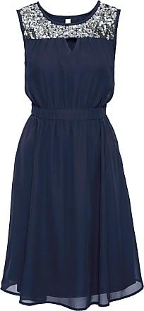 BODYFLIRT boutique Dam Festklänning med paljettinfällning i blå utan ärm -  BODYFLIRT boutique fdd6bfe31423b