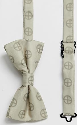 Religion wedding printed sateen bow tie in champagne-Gold