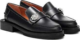 Ganni Jewel leather loafers