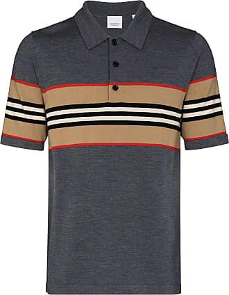 Burberry Camisa polo de lã merino Foxford - Cinza