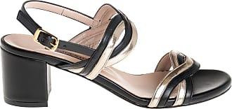 Albano sandalo tacco grosso, 35 / nero
