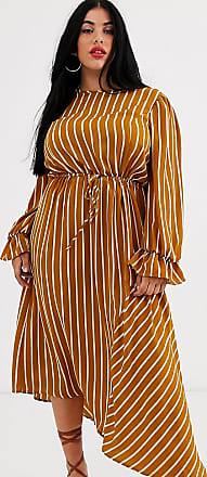 Unique21 Hero Unique21 Hero stripe long sleeve drawstring waist dress-Multi