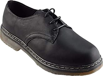 Truffle Buk 3 Black Pu Ladies Vegan Combat Shoes[Ladies UK 7 / EU 40]