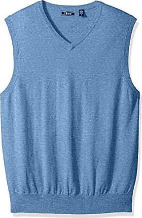 Izod Mens Premium Essentials Solid V-Neck 12 Gauge Sweater Vest, New Revival, Medium