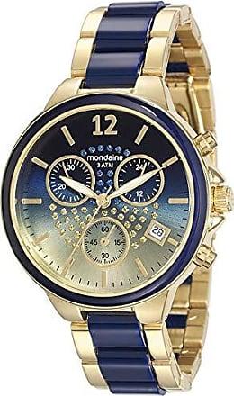 Mondaine Relógio Cronógrafo Azul e Dourado